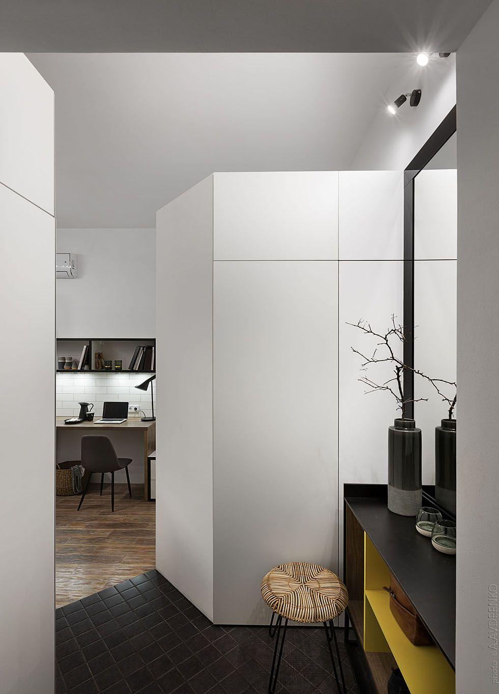 186 square feet fateeva design created the perfect studio apartment for a student in odessa ukraine photo andrey avdeenko interiordesign