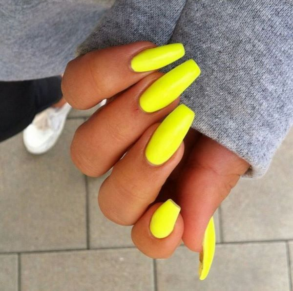 Uñas de un solo tono - Just One Color Nails | Nails | Pinterest ...