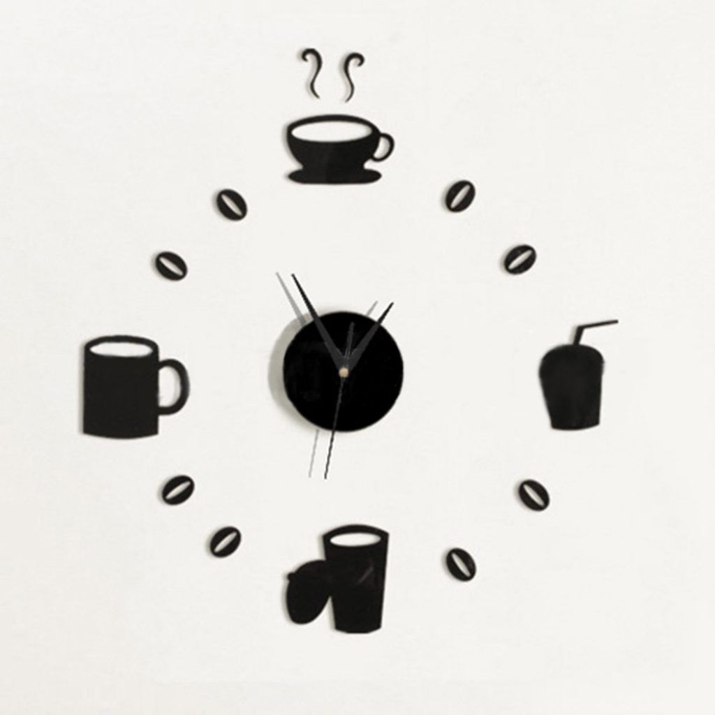 Modern Kitchen Wall Clock Cup httpyonkou teinet Pinterest