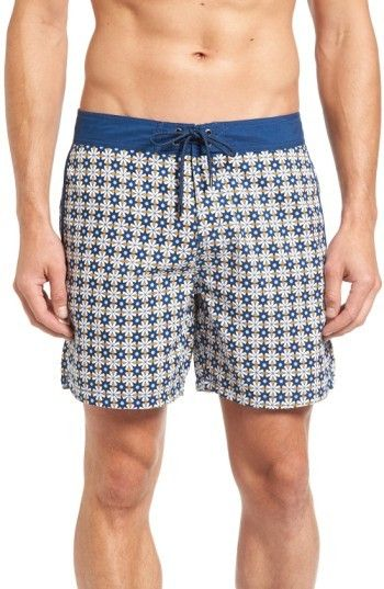 6de7575a98 Mr.Swim Men's Star Tile Print Board Shorts | Products | Shorts ...