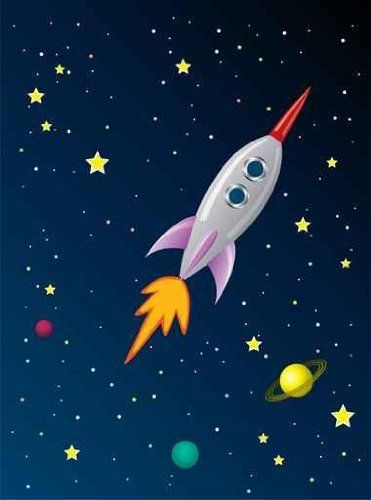 Cute outer space bedding bedroom wall decor best for Outer space childrens decor