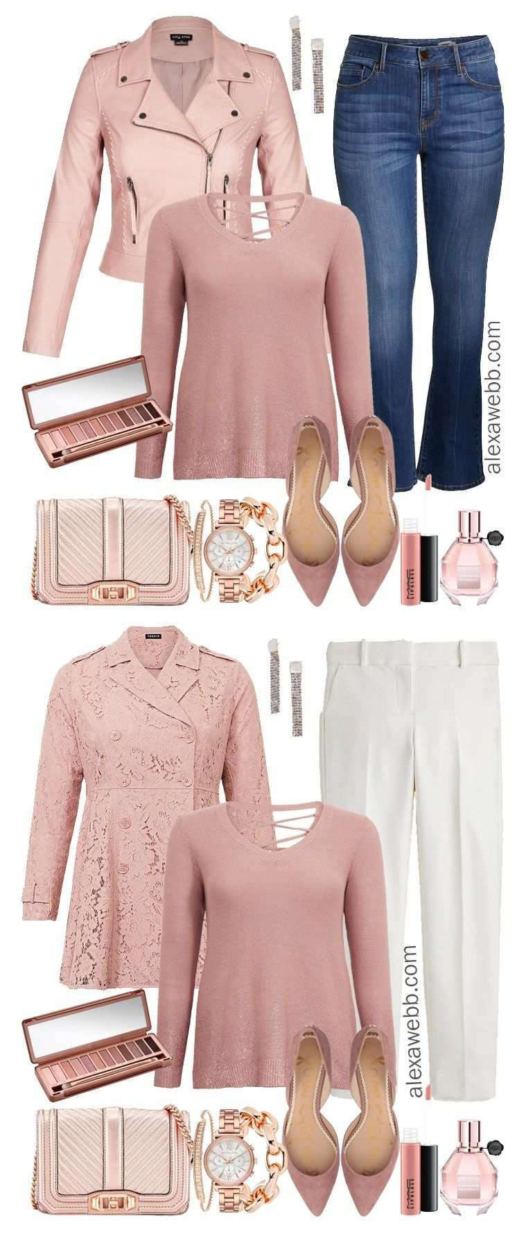 361dbf4572b Plus Size Rose Gold Sweater Outfit - Plus Size Winter Outfit Idea - Plus  Size Fashion for Women - alexawebb