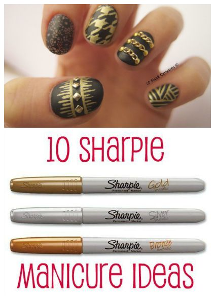 10 Sharpie Manicure Ideas Sharpie Nails Sharpie Nail Art Simple Nails