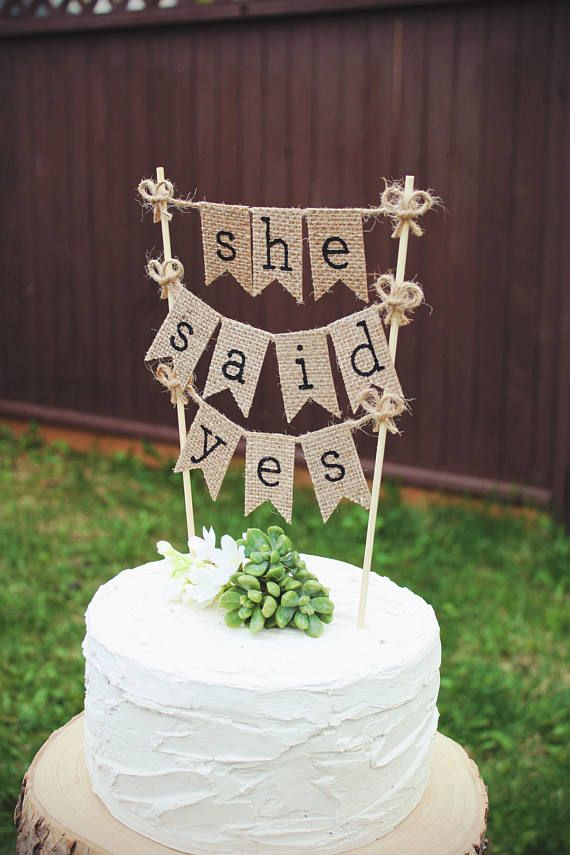 wedding cake topper yes or no she said yes bridal shower cake topper to be 26666