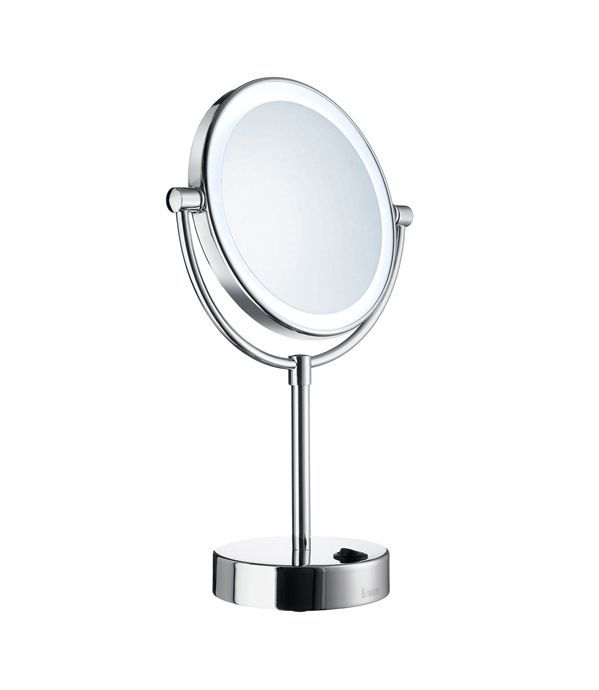 Outline Freestanding Battery Operated Led Lighted Mirror Two Sided