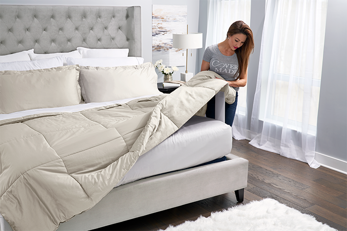 Photo of Easy Bed Making with Covermade Comforters