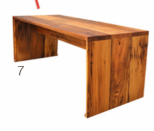 This design could be used for the main desk. The wooden plank making it  stand