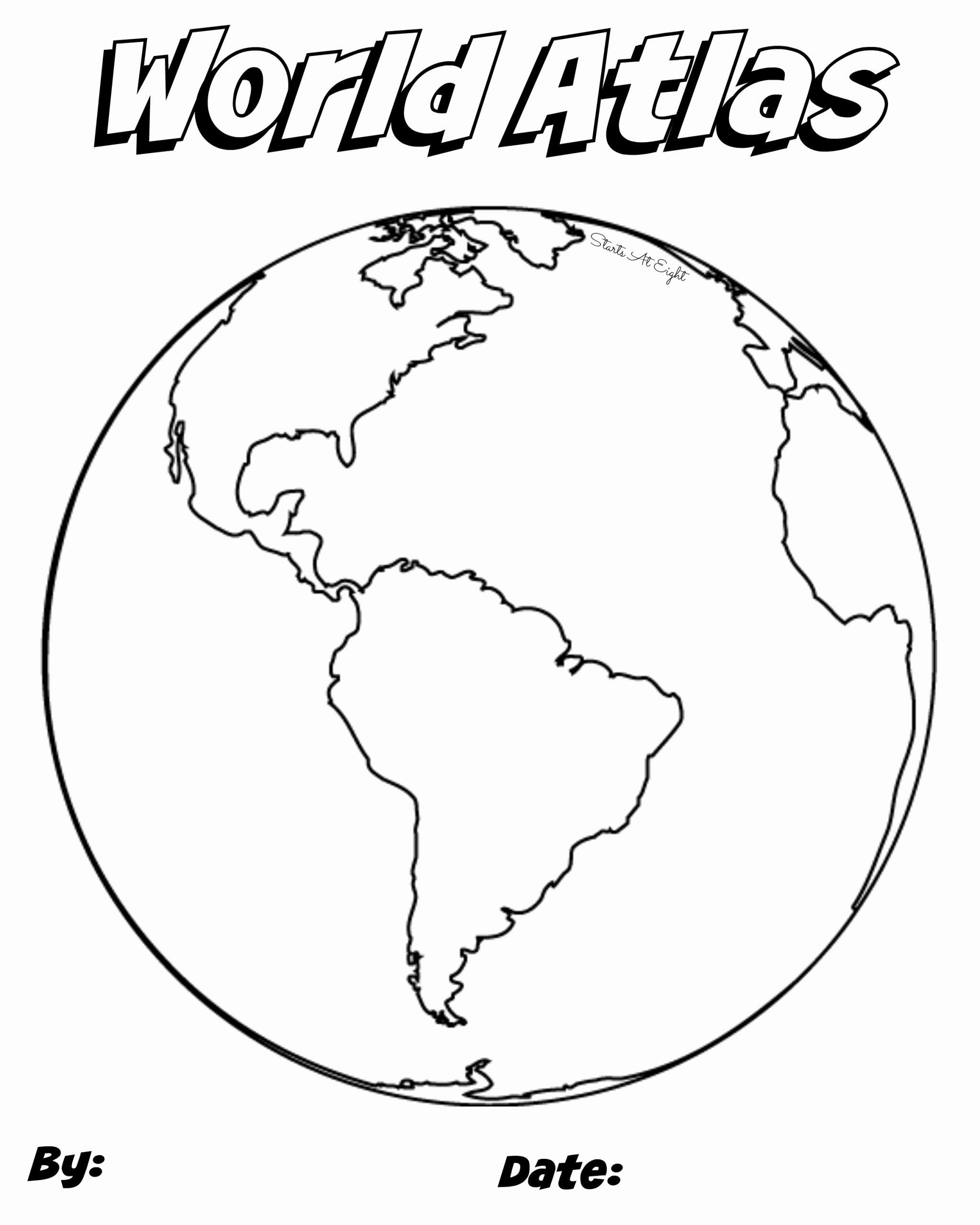Planet Earth Coloring Page Awesome Create Your Own Atlas