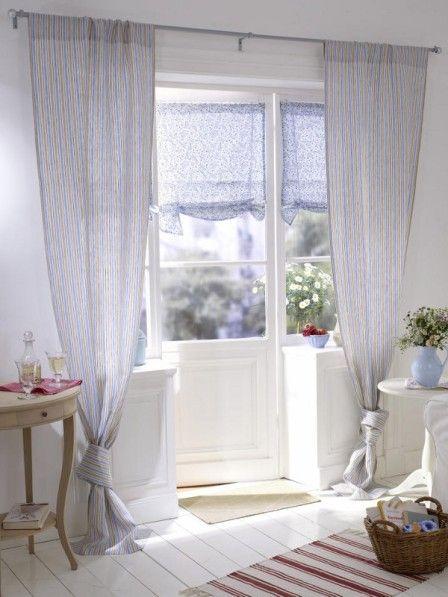 raffrollos im landhaus look schlafzimmer cortinas. Black Bedroom Furniture Sets. Home Design Ideas