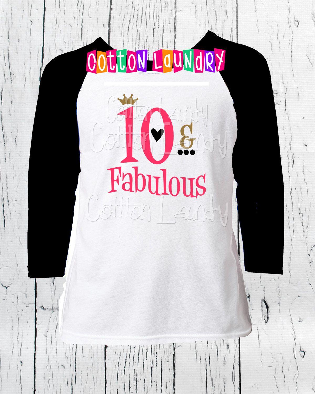Double digits tenth birthday girls birthday 10 year old