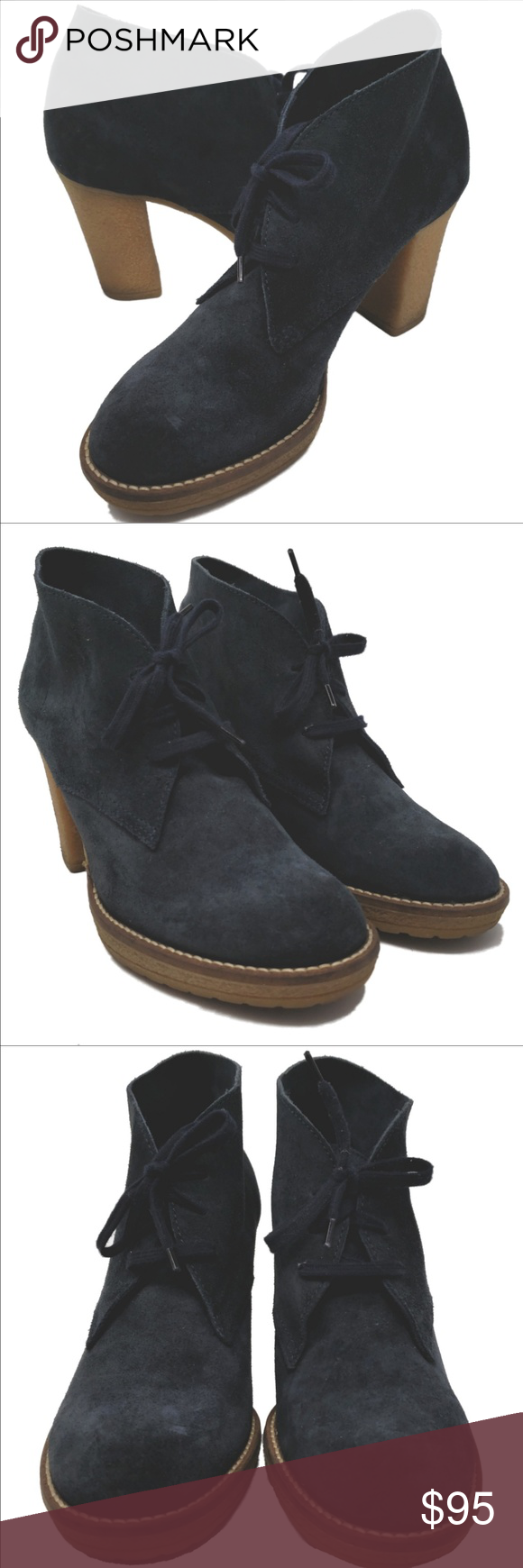 a4336185c35 J Crew MacAlister Suede High Heel Ankle Boot SZ 8 J. Crew blue