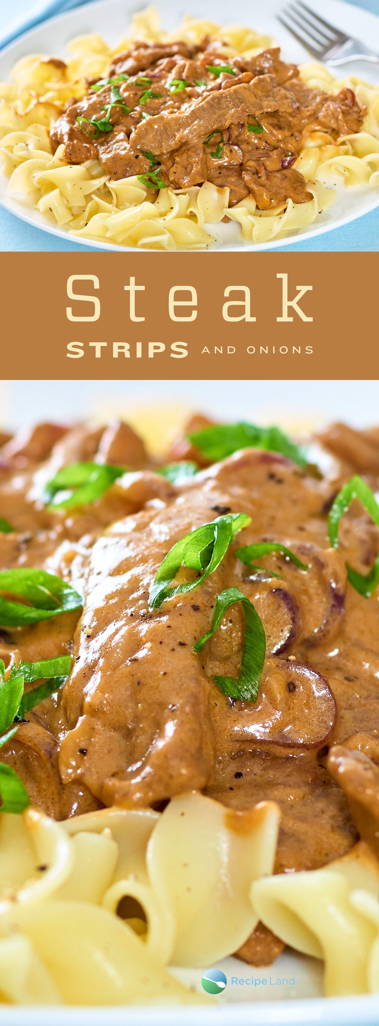 Steak Strips and Onions #beefsteakrecipe