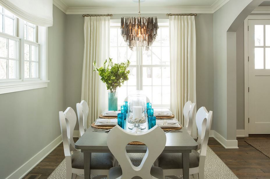 Dining Room Wall Color Stonington Gray Hc 170 And Trim White
