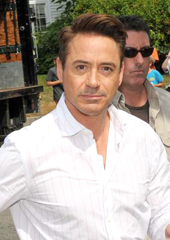 """Robert Downey Jr. filming """"The Judge"""" on location in"""