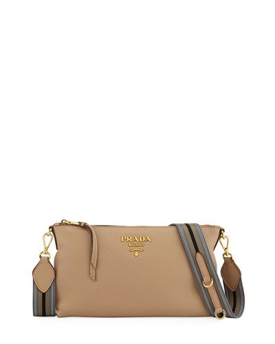Daino Small leather crossbody bag Prada aMehr