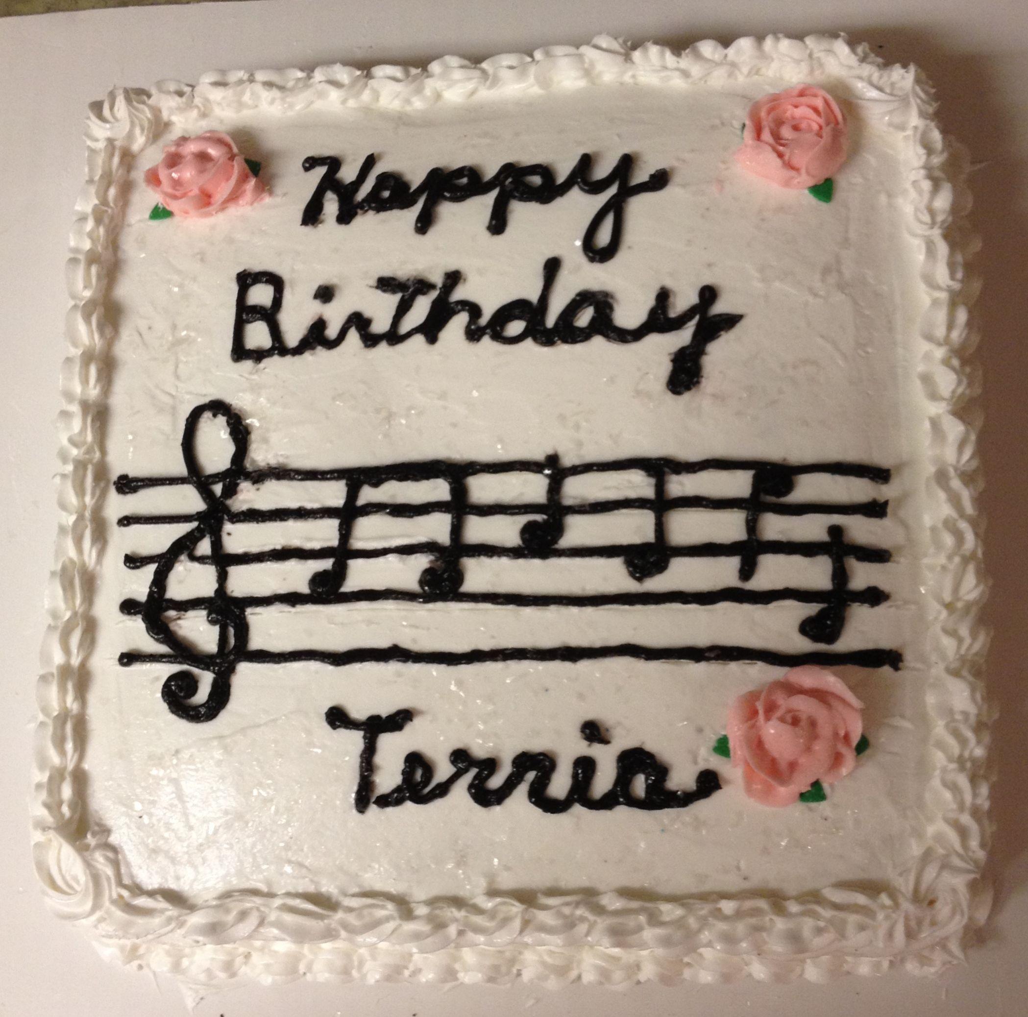 "Musical"" gluten free birthday cake I made for my friend s pastor"