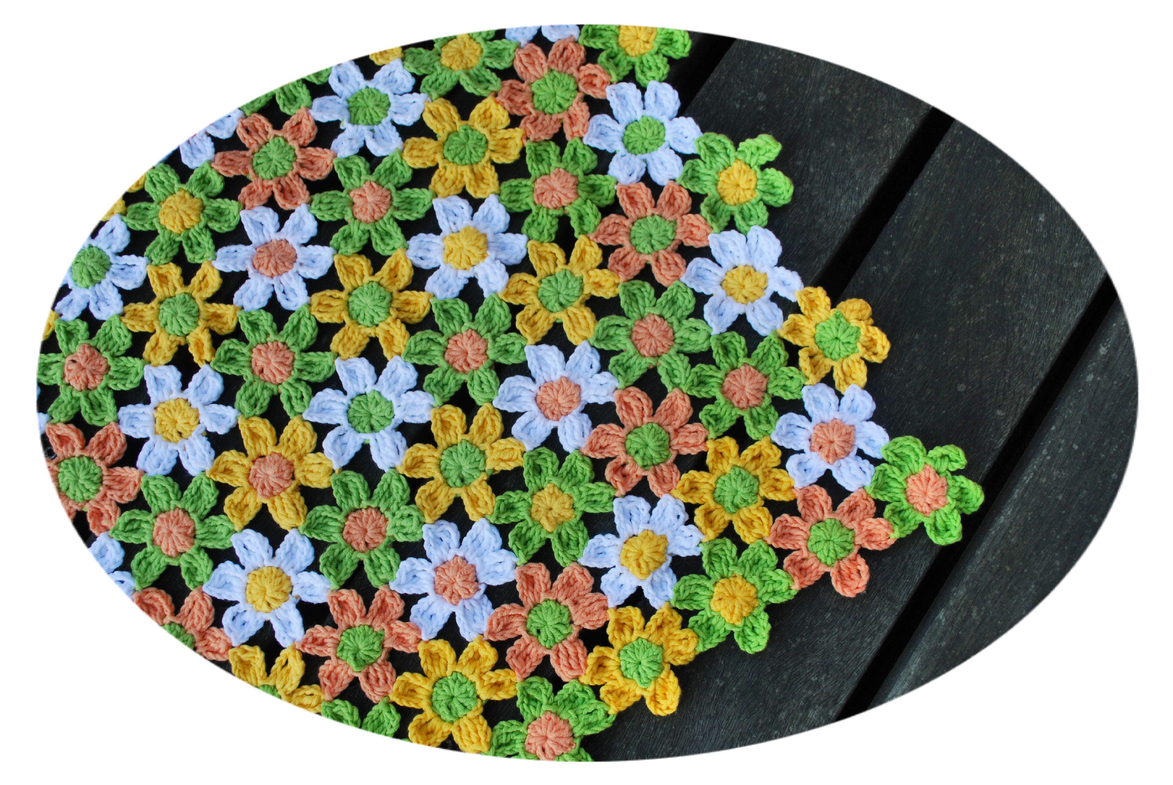 Spring daisy, flowers, crochet flowers, flower motif, fashion ...