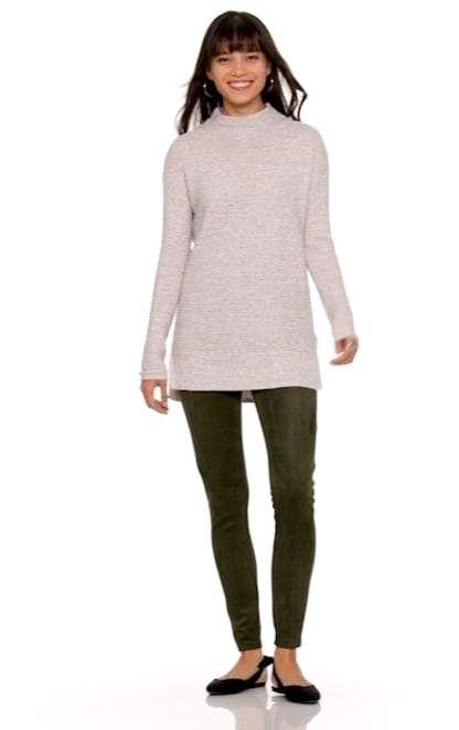 Shoptagr | Nude Faux Suede Cold Shoulder Bodycon Dress by