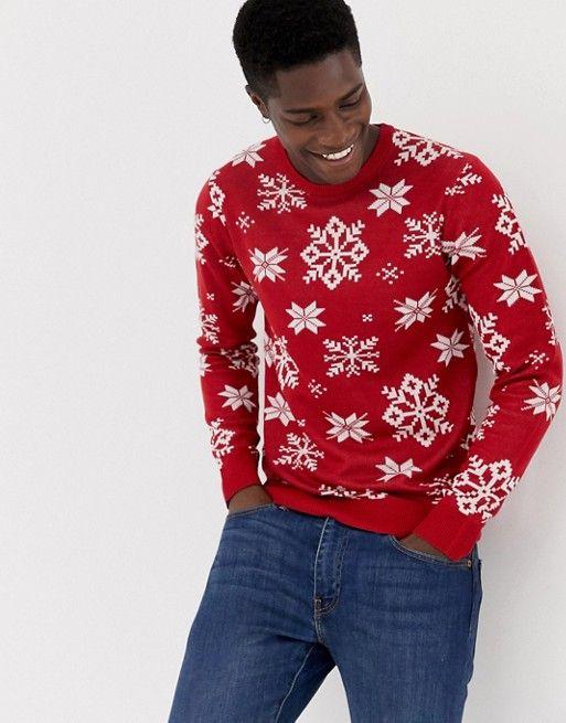 Markenqualität spätester Verkauf Leistungssportbekleidung Jack & Jones Originals Knitted Holidays Sweater | asos men ...