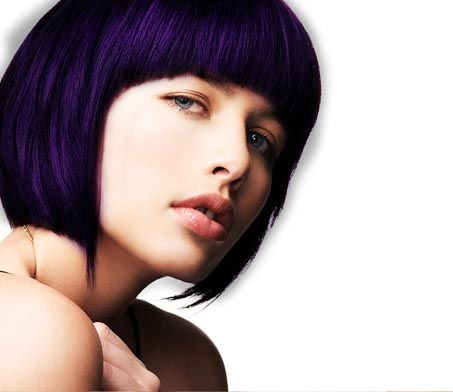 blueberry hair color and perfect cut mermaid hair