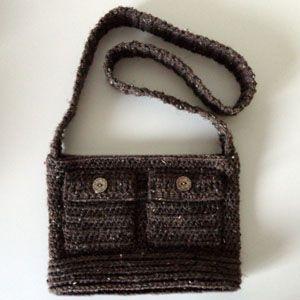 crochet chica trabajando crossbody bolsa