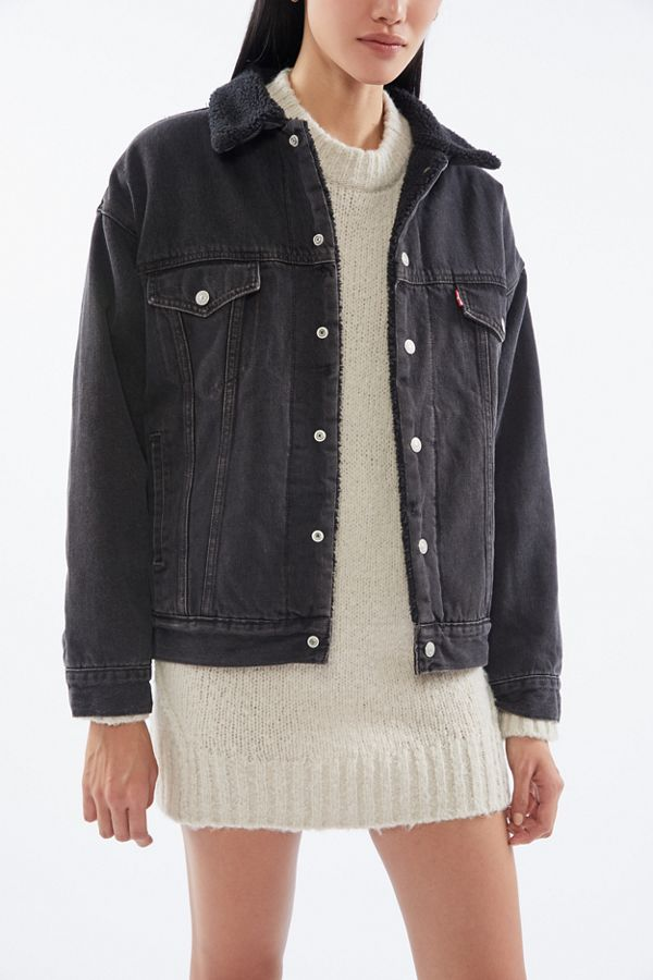 Levi's Dad Denim Sherpa Trucker Jacket Jacket outfit