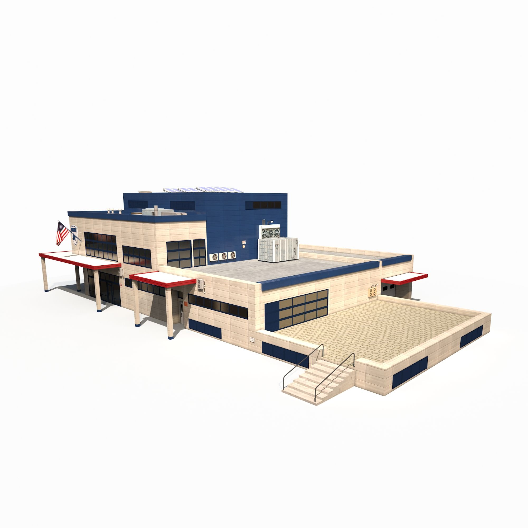 Police Station Low Poly #Police, #Station, #Poly