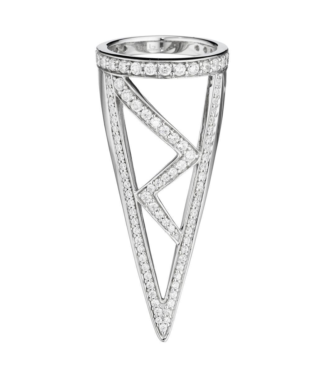Shades of Gray on #ShopBAZAAR: Lynn Ban Triangular Ring