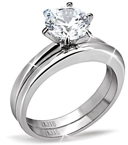 Women S Size 7 316 Steel Russian Ice Cz Engagement Ring Is Going Up