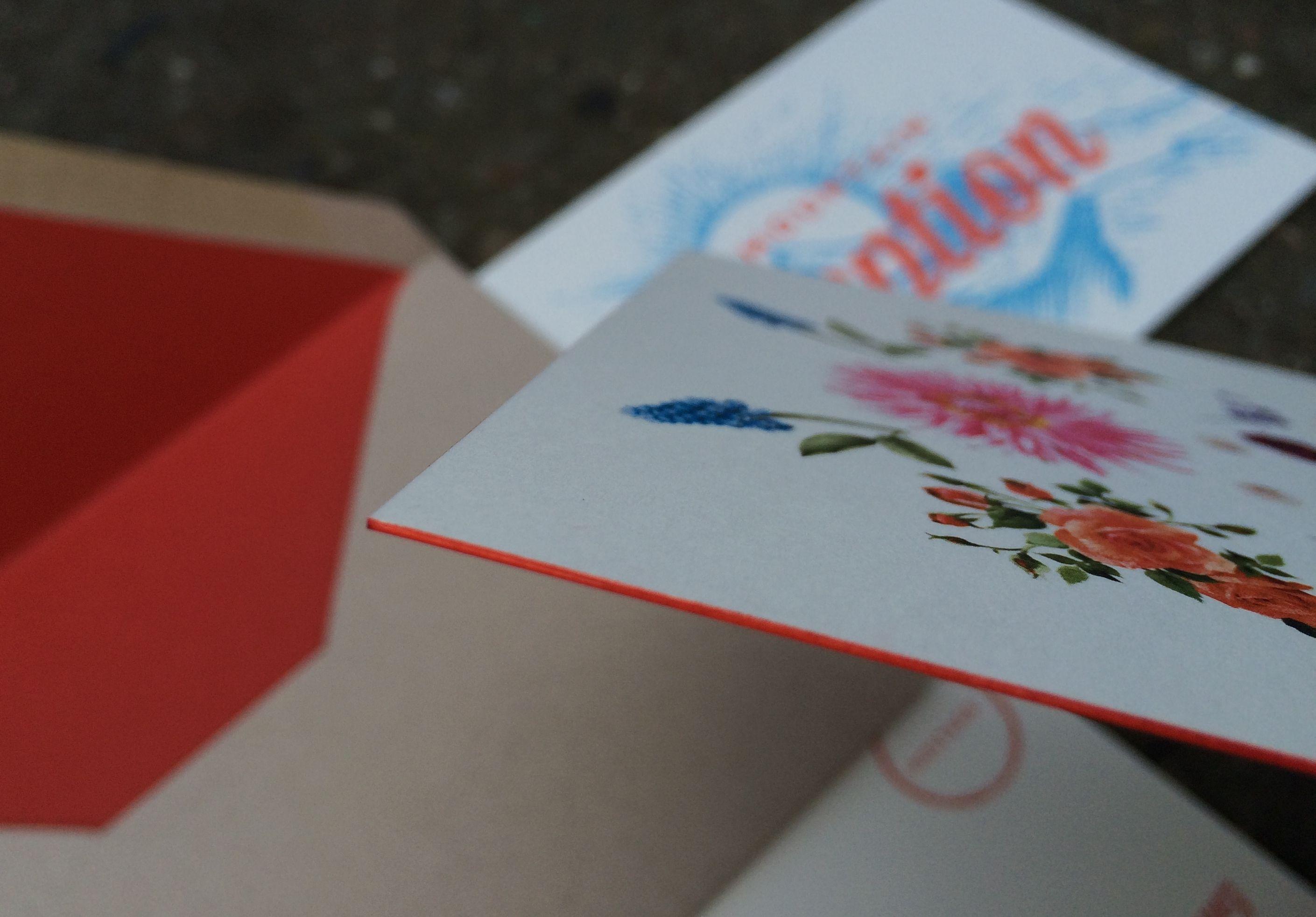 Vintage/modern mountain wildflower wedding invitation with flat ...