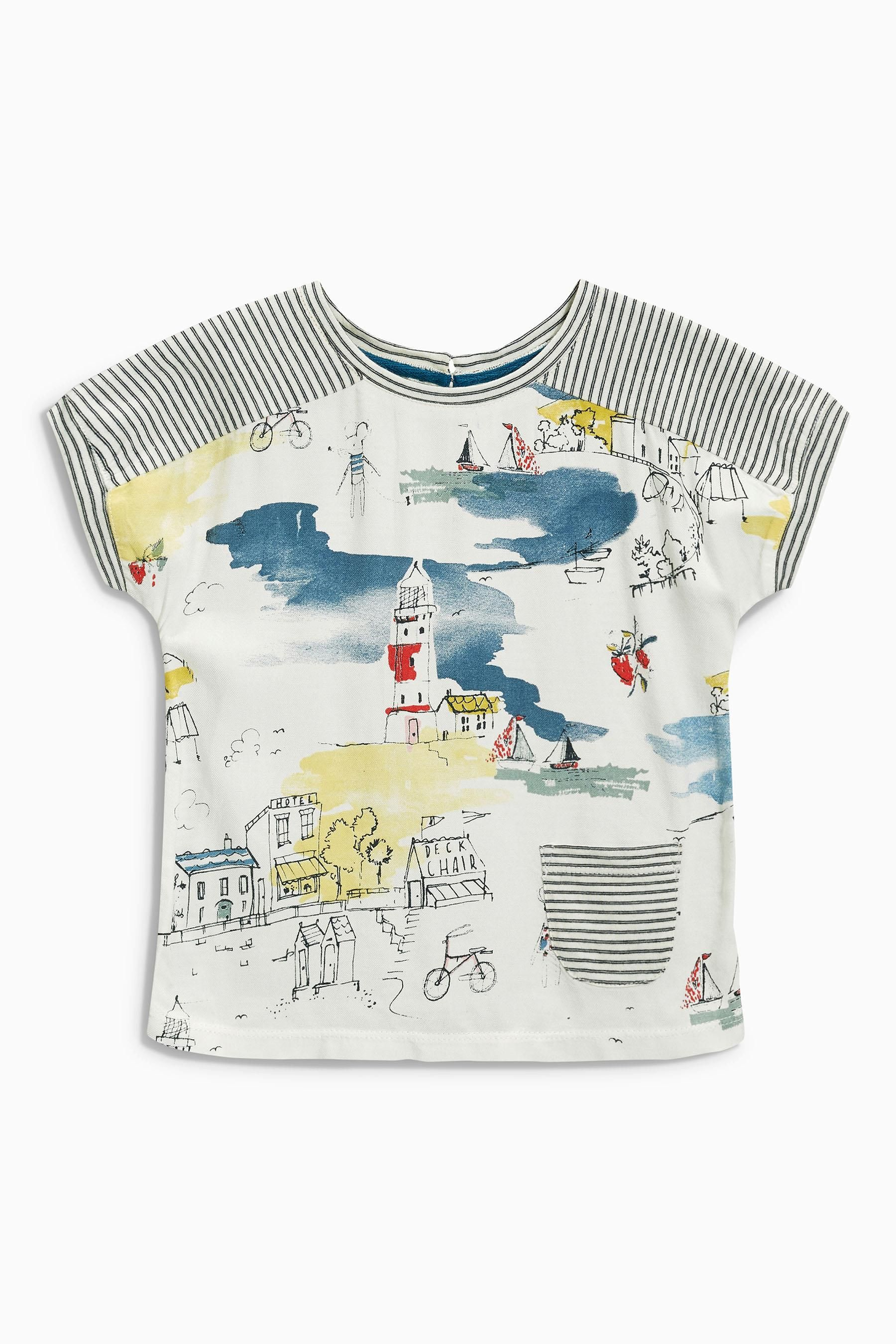 Buy Ecru Scene Stripe T-Shirt (3mths-6yrs) online today at