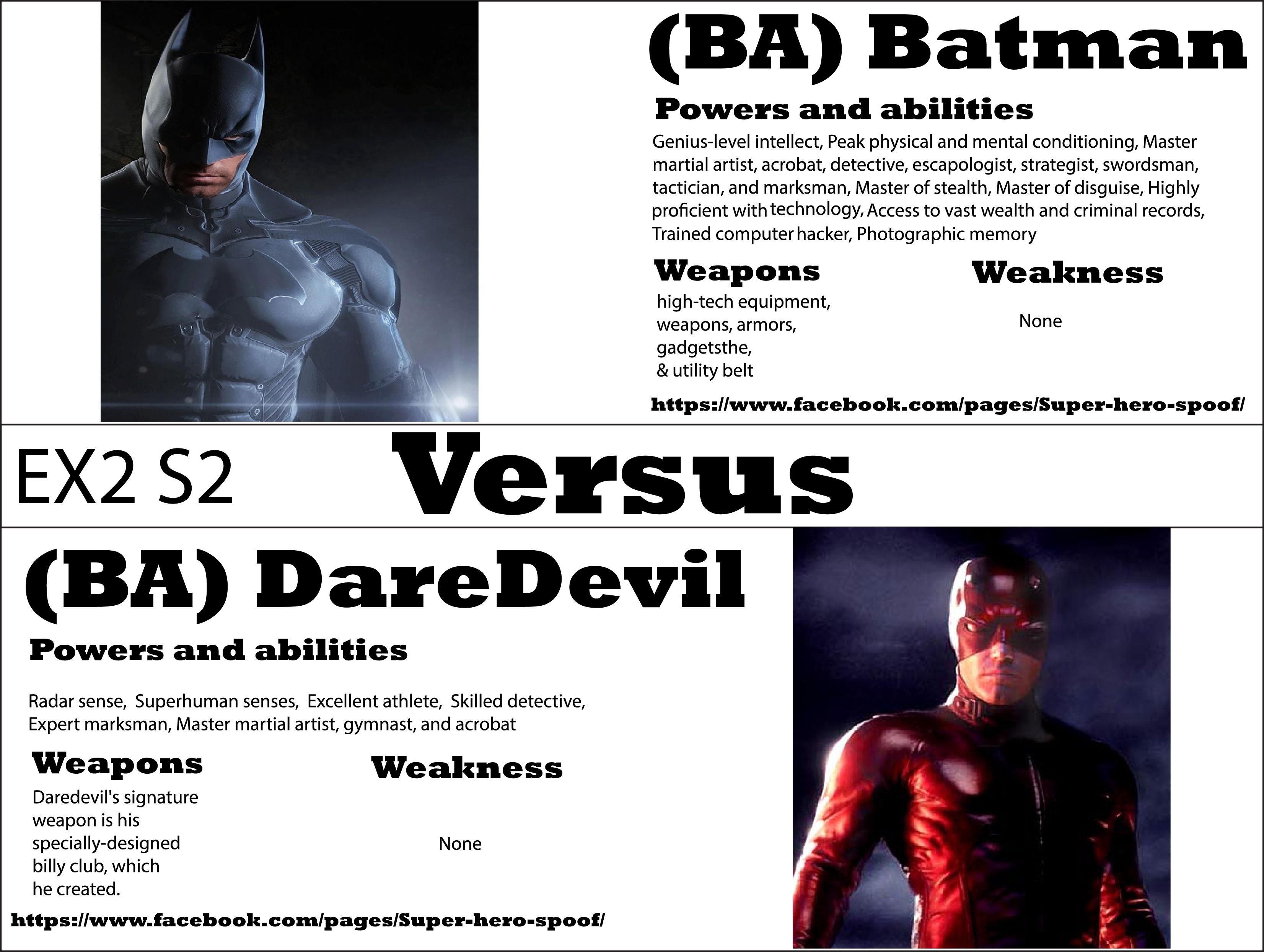 batman vs daredevil who will win and why powers abilities batman vs daredevil who will win and why powers abilities weaknesses
