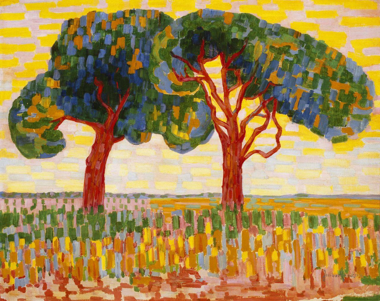 Jacoba van Heemskerk  (Dutch, 1876-1923) Two Trees (Twee bomen), 1908-1910 Oil on canvas, 73.2 x 91 cm Gemeentemuseum Den Haag, Nederlands