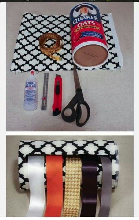 Diy Ribbon Holder Craft Organization Ribbon Storage Ribbon Holders
