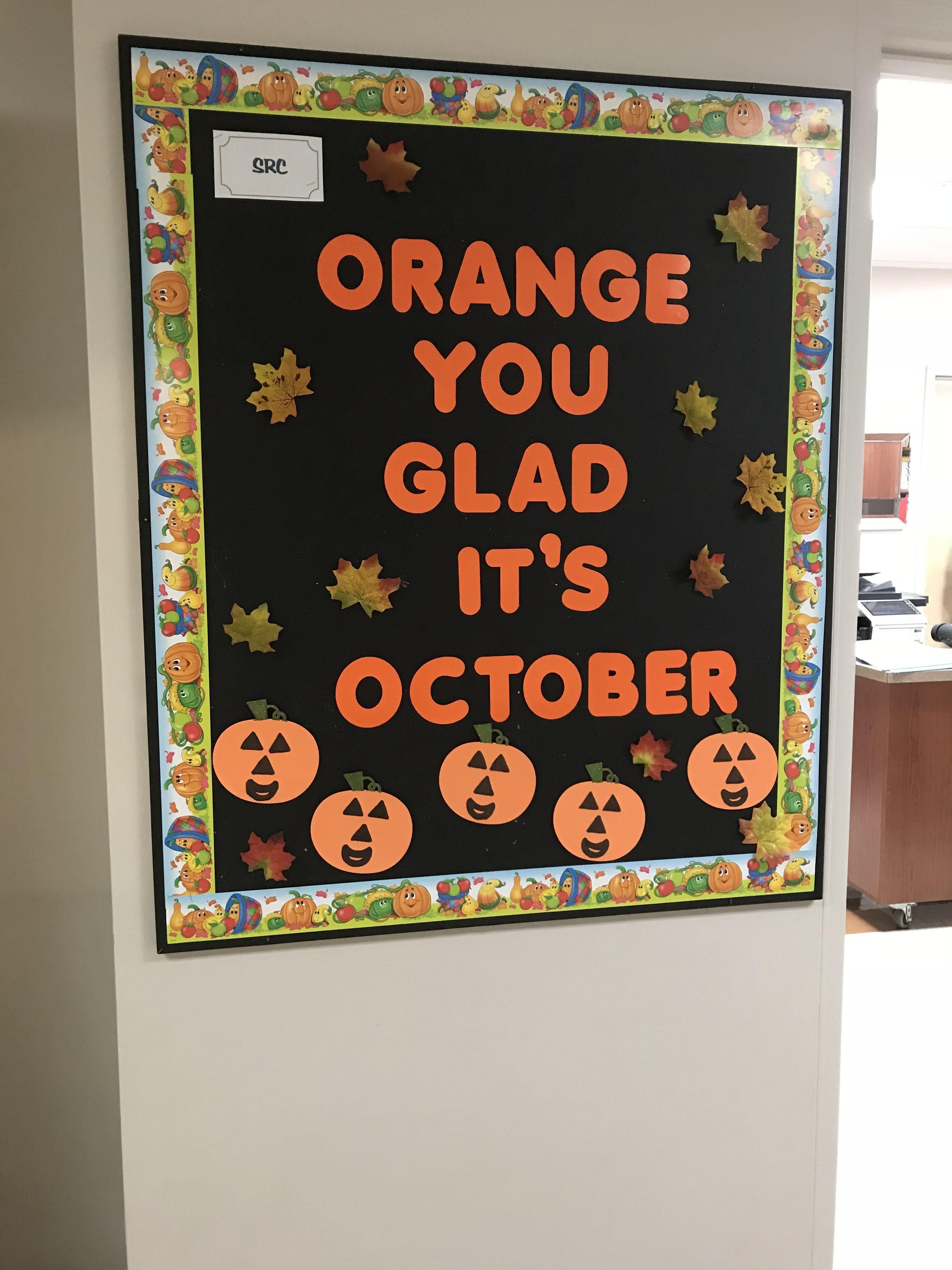 October bulletin board octoberbulletinboards October