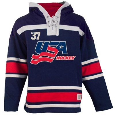 Old Time Hockey Usa Hockey 2014 Winter Olympics Home Lace Pullover Hoodie Sweatshirt Navy Blue Sweatshirts Hoodie Pullover Hoodie Usa Hockey
