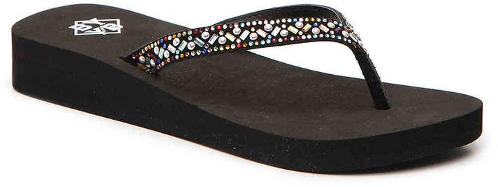 f75b6b0a6ba BYYB Elara  Wedge Flip Flop -  Women s. Have day long comfort when styling