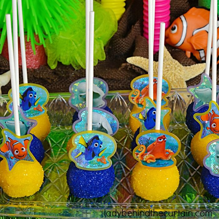 Finding Dory Cake Batter Pops Recipe Dory cake Birthday party