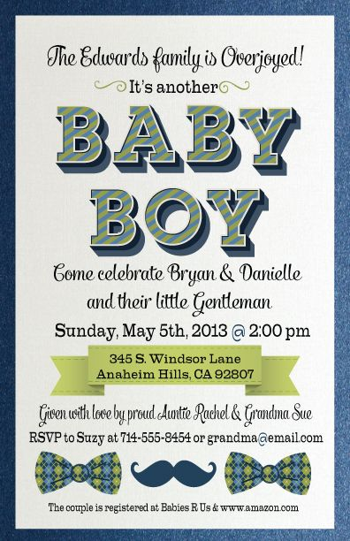 Are You Looking For A Truly Adorable Boy Baby Shower Invitation For Your  Arriving Little Gentleman? Do You Love Mustaches And Bow Ties? If So, You U2026