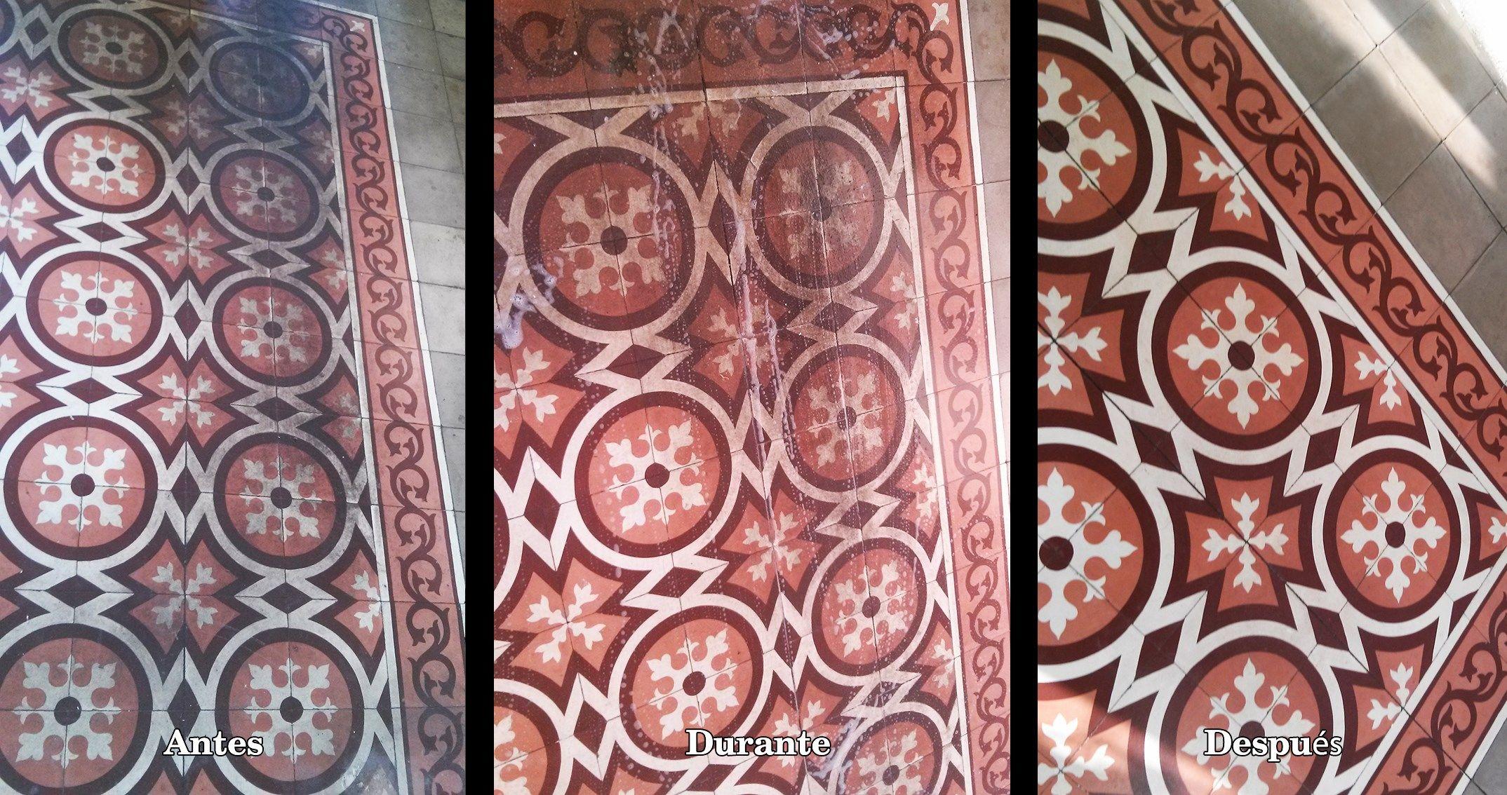 Cómo Recuperar Un Suelo De Mosaico Hidráulico Muy Deteriorado Mosaico Hidraulico Suelos Mosaicos