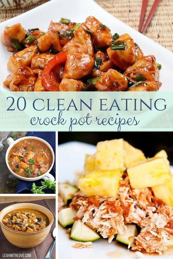 20 Clean Eating Crock Pot Recipes Clean Eating Crock Pot Recipes Clean Eating Crockpot