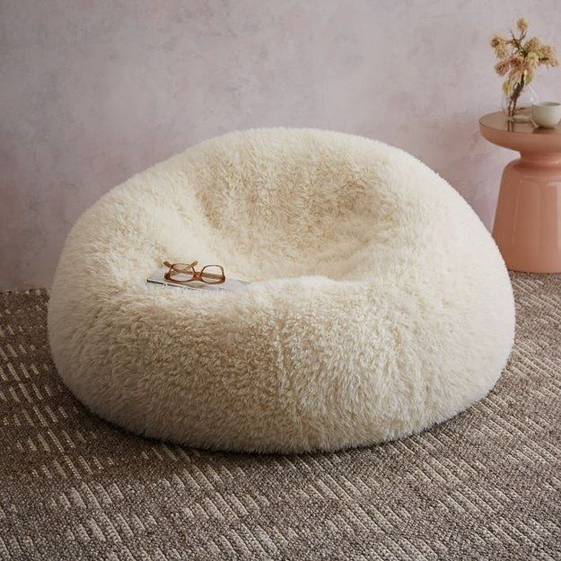 A Snuggly Faux Fur Beanbag. | 21 Cozy Gifts For People Who Are Always Cold