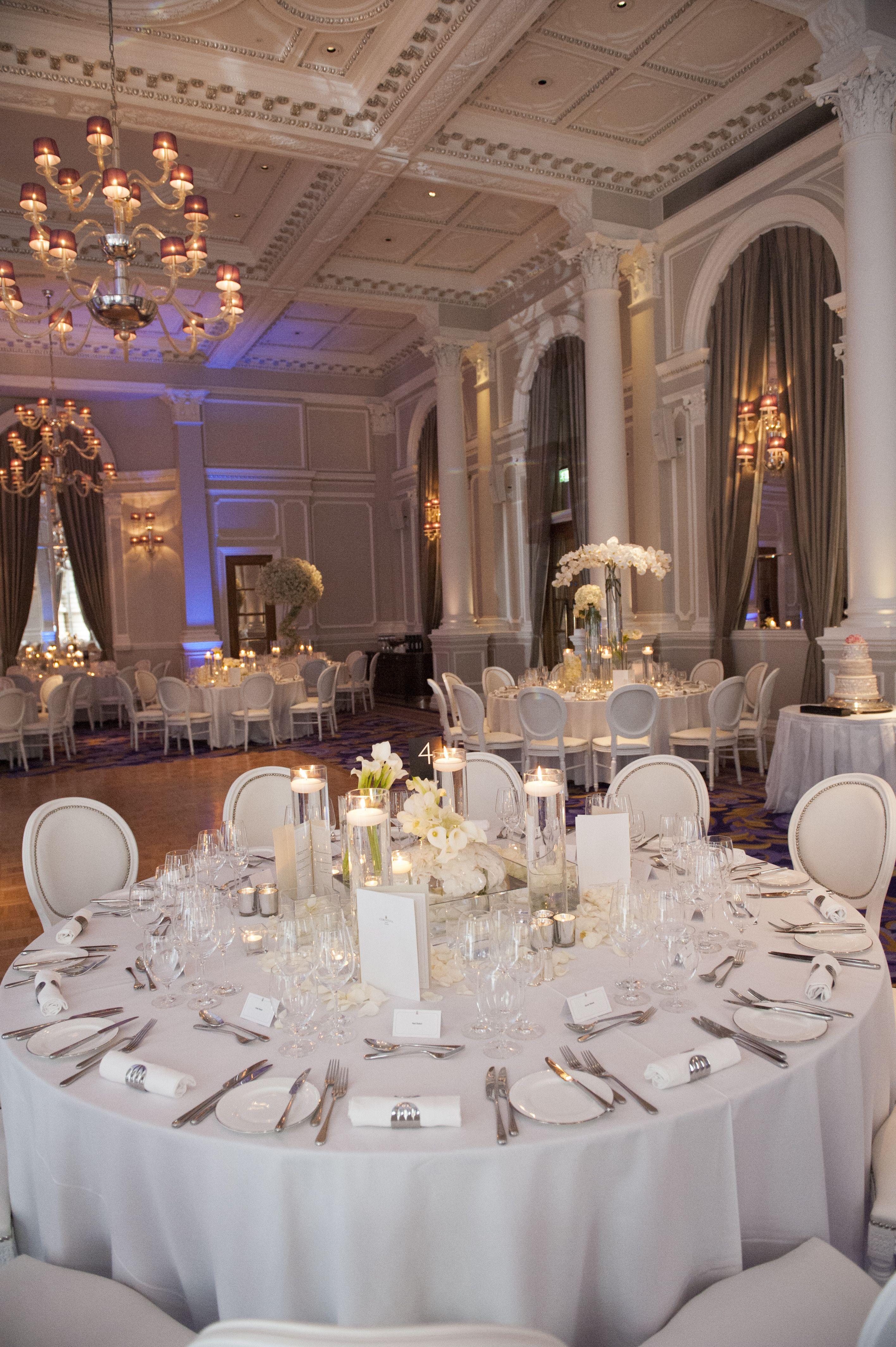 White Wedding in the Ballroom Ballroom wedding, Wedding