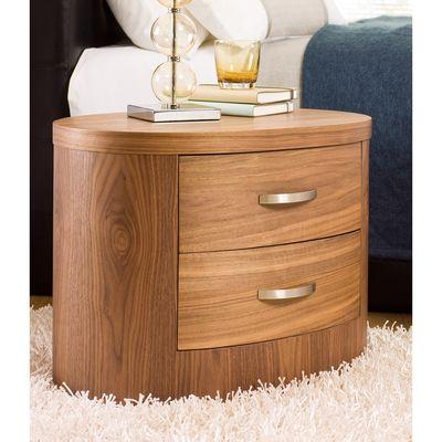 Capri Bedside Table Walnut Dwell 99 Retro Bedside Tables