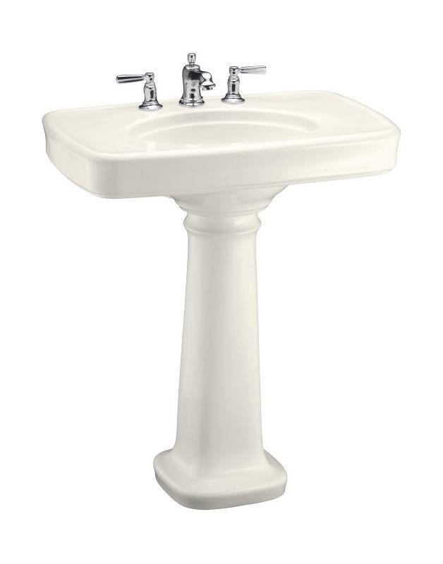 Kohler K 2347 8 Bancroft 30 Pedestal Lavatory Sink Biscuit Fixture Vitreous China