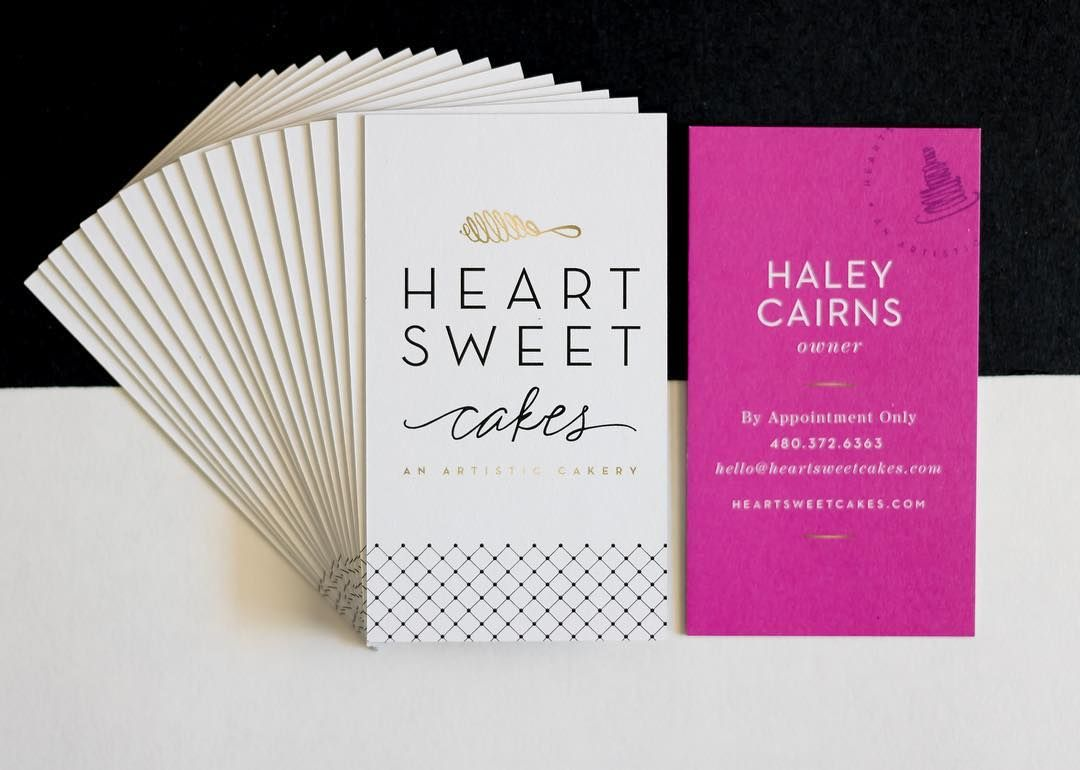 Heart Sweet Cakes business cards | DESIGN identity + collateral ...