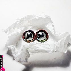 UPCYCLED II project // stud earrings. Handmade from coffee tins.