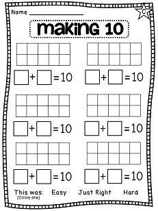 First Grade Math Unit 3 Addition to 10 | First grade math ...