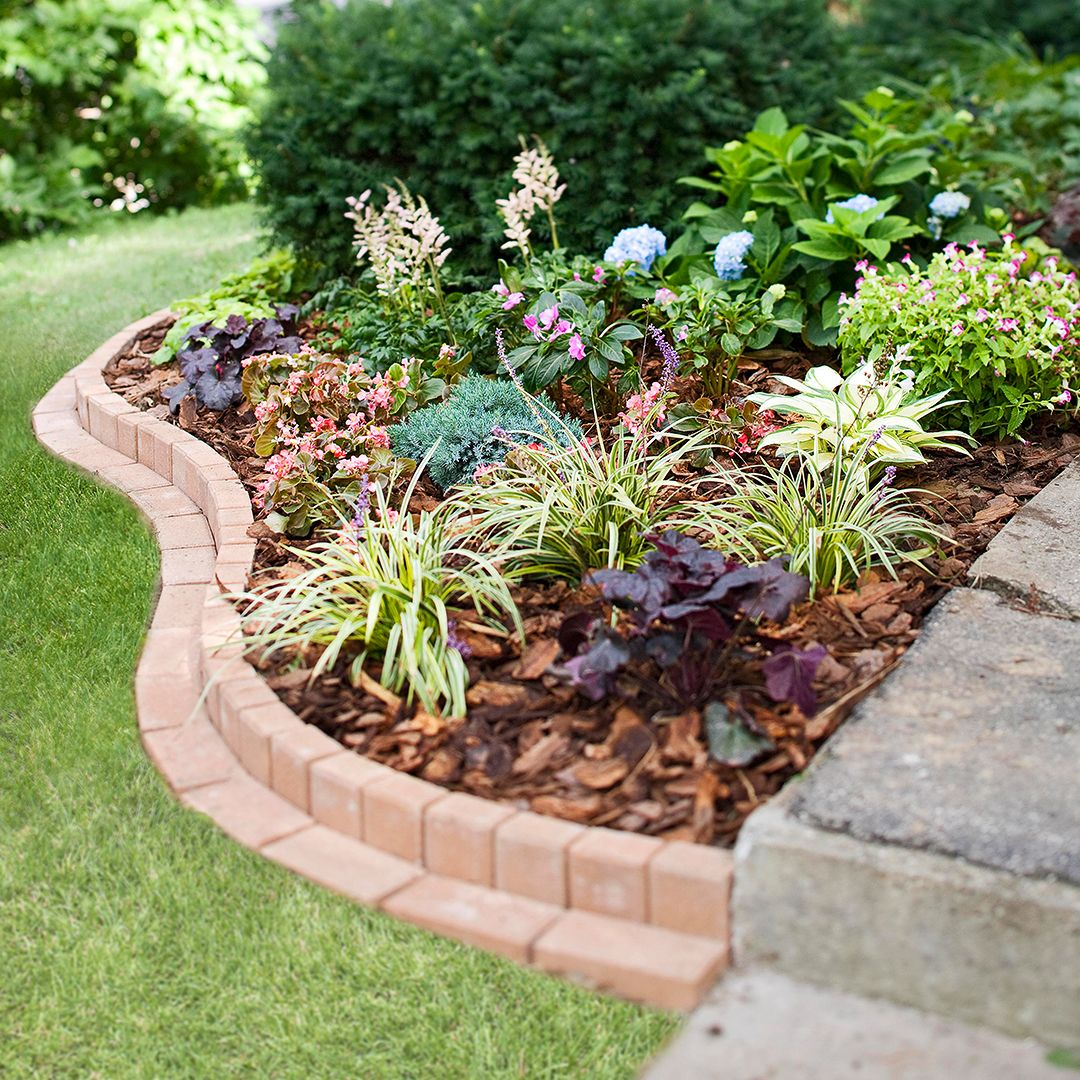 Plant A Curved Brick Flowerbed Border