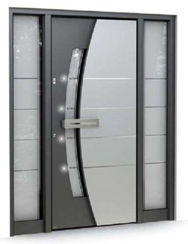 Porta d 39 ingresso battente in vetro di sicurezza for Porta ingresso vetro